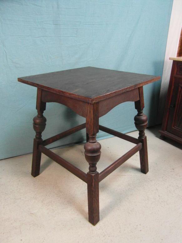 Etwas Neues genug Beistelltisch Antik Tisch Solide Eiche Gedrechselt Standfest @AS_98