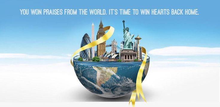 You Won Praises From The World. It's Time To Win Hearts Back Home.  NRI Of The Year Print Ad 2015  #NRI #Awards #NRIAwards #NRIOfTheYear #India #IndianOrigin #GlobalIndians #AbroadIndians #OverseasIndians #IndianExpats #IndianDiaspora
