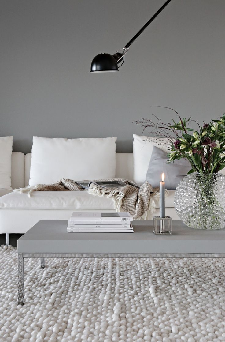 Grey / White living room (1 candle) Stylizimo