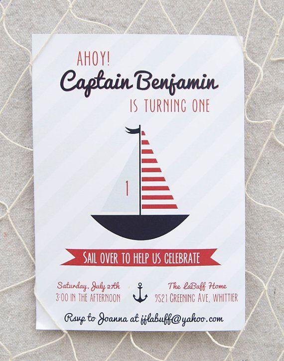 1000+ ideas about Nautical Birthday Invitations on Pinterest ...