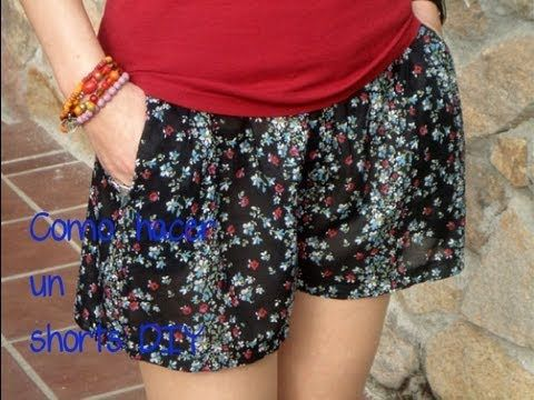 Como hacer un shorts: (Patrón o moldes gratis). Hazlo tu misma. Diy, My Crafts and DIY Projects