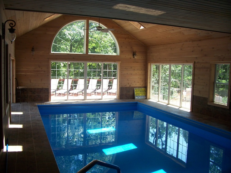 32 best favorite places spaces images on pinterest for Cost to build a pool house with bathroom