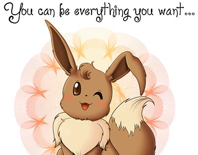 """Check out new work on my @Behance portfolio: """"You can be everything you want... or simply yourself!"""" http://be.net/gallery/35830895/You-can-be-everything-you-want-or-simply-yourself #pokemon #eevee #eeveelutions #vaporeon #jolteon #flareon #espeon #umbreon #leafeon #glaceon #sylveon #design #cute #minimal #tshirt"""