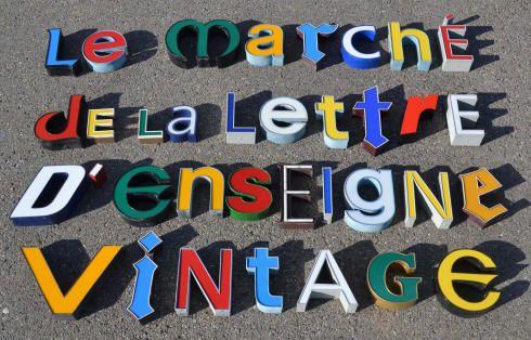 Des lettres d 39 enseigne vintage lettres d pareill es lumineuses typ - Enseigne lumineuse vintage ...