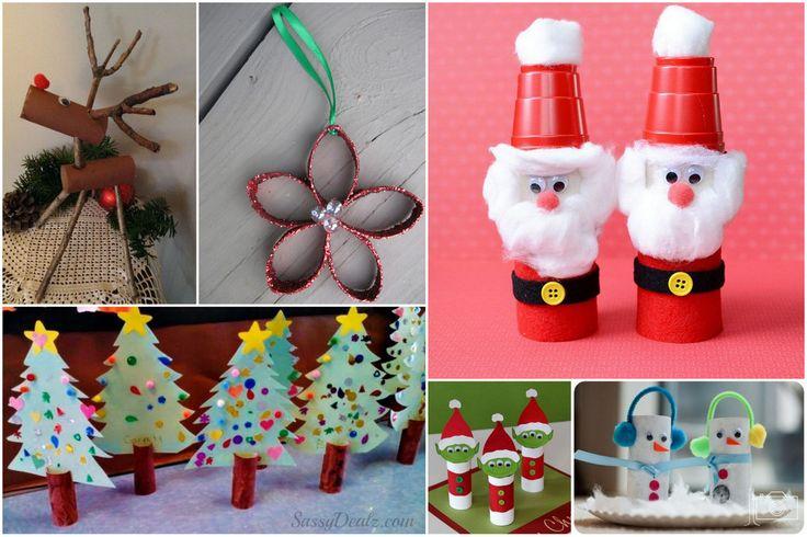 Des idées de bricolage de Noël avec des rouleaux de papier
