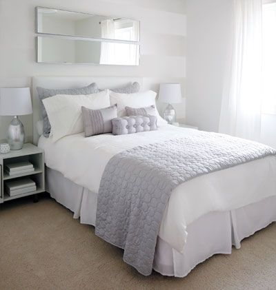 the designers wanted to appeal to a wide range of ages, so they chose an ultra-neutral white-and-grey palette -- the look is fresh but not fairy tale.