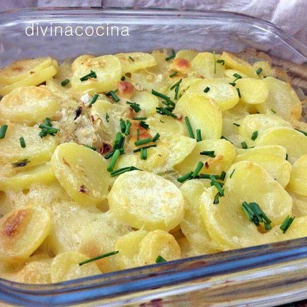 Graten de patatas y cebolla