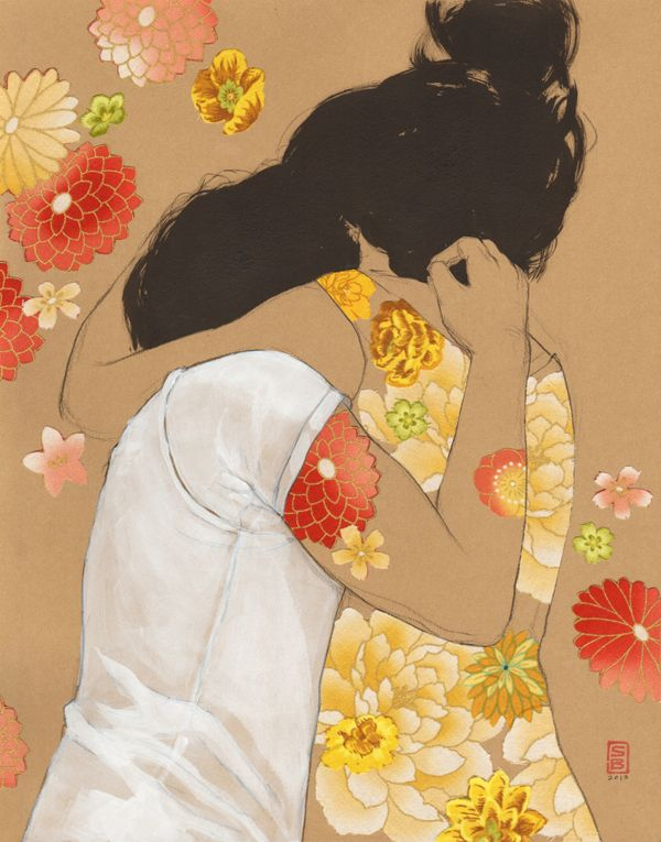 Kraft Flower Collages on Illustration Served