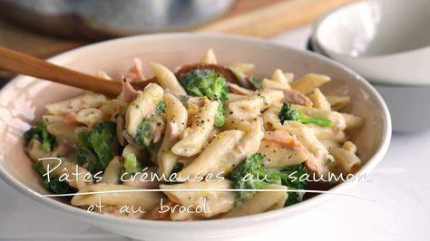 Pâtes crémeuses au saumon et au brocoli | Cuisine futée, parents pressés