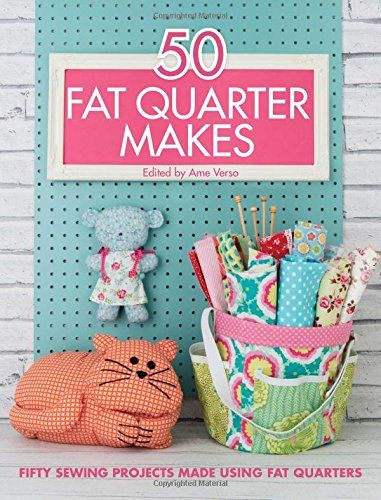 A great collection of fat quarter projects that will inspire you and give you tons of great sewing ideas! These are meant for use with fat quarters.