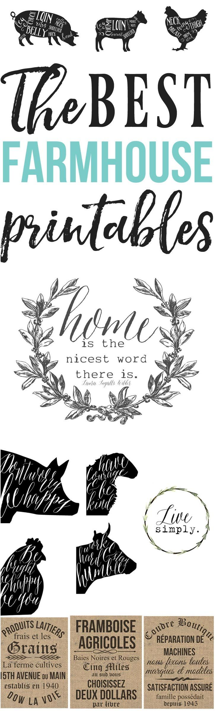 Farmhouse Printables- farmhouse inspired printables for a budget worthy room makeover  farmhouse printables, farmhouse decor, farmhouse inspired, farmhouse living room, farmhouse bathroom, farmhouse decorating on a budget, farmhouse inspiration, farmhouse kitchen, farmhouse decorating ideas.