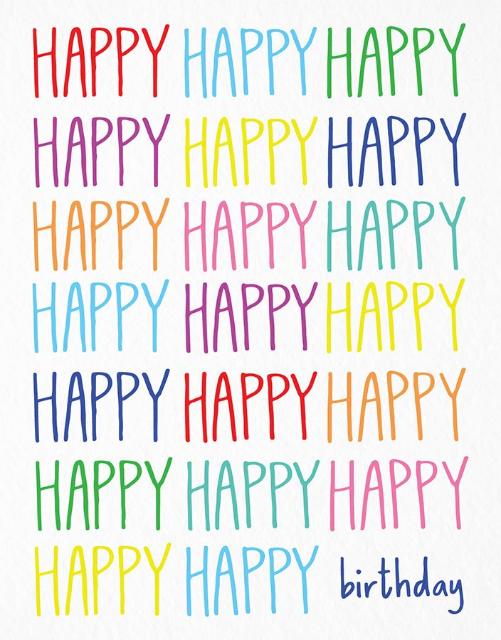 Happy Happy Birthday card by Happy Cactus on Postable.com