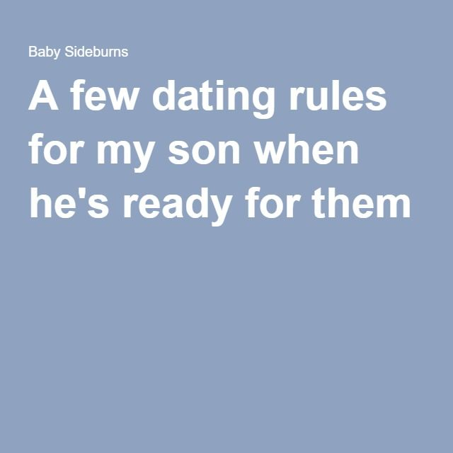 dating rules and advice