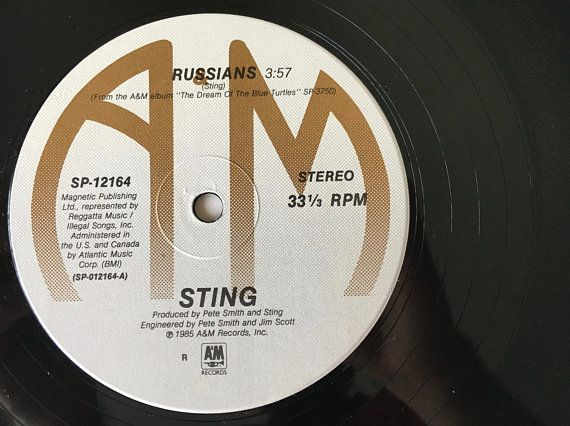 Sting Russians Lp Vinyl Record 12 Single A M Records Etsy Vinyl Records Vintage Vinyl Records Lp Vinyl