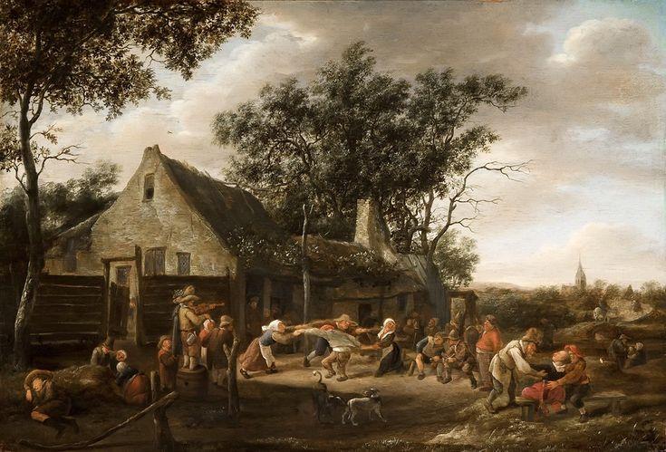 Маурицхёйс: Steen Jan (1626 — 1679)  - Сельский танец у таверны