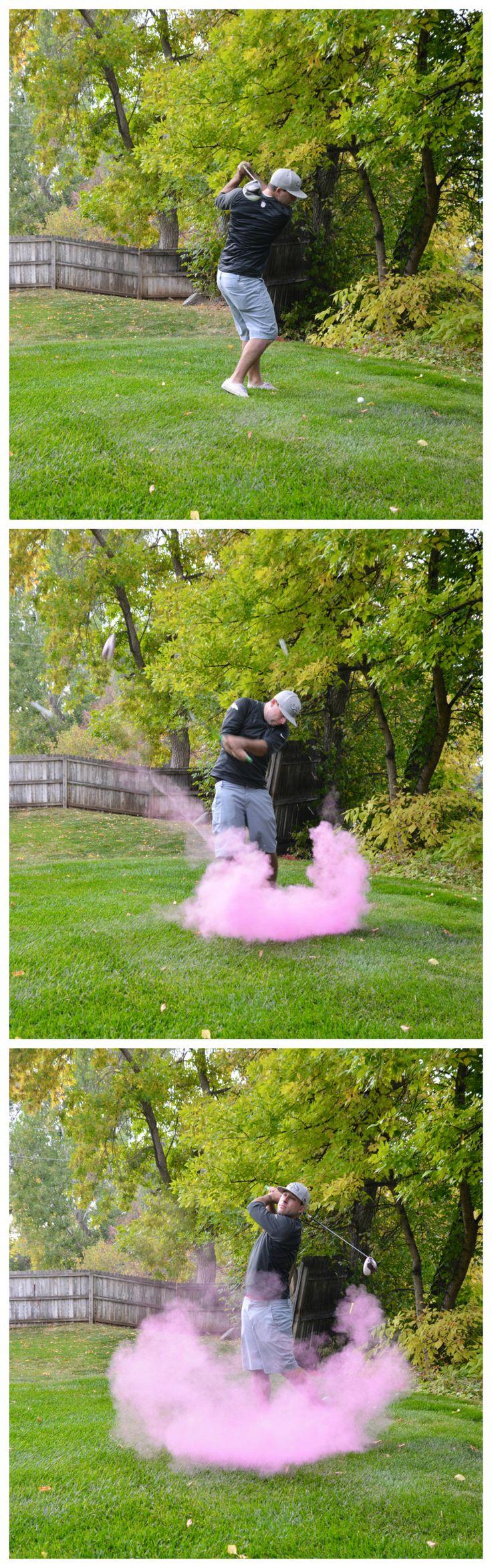 Golf Gender Reveal! Cute Gender reveal, golf baby shower