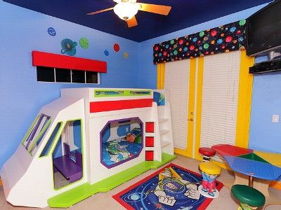 Buzz Lightyear Room Complete with Rocket Bunk Bed | Toy ...