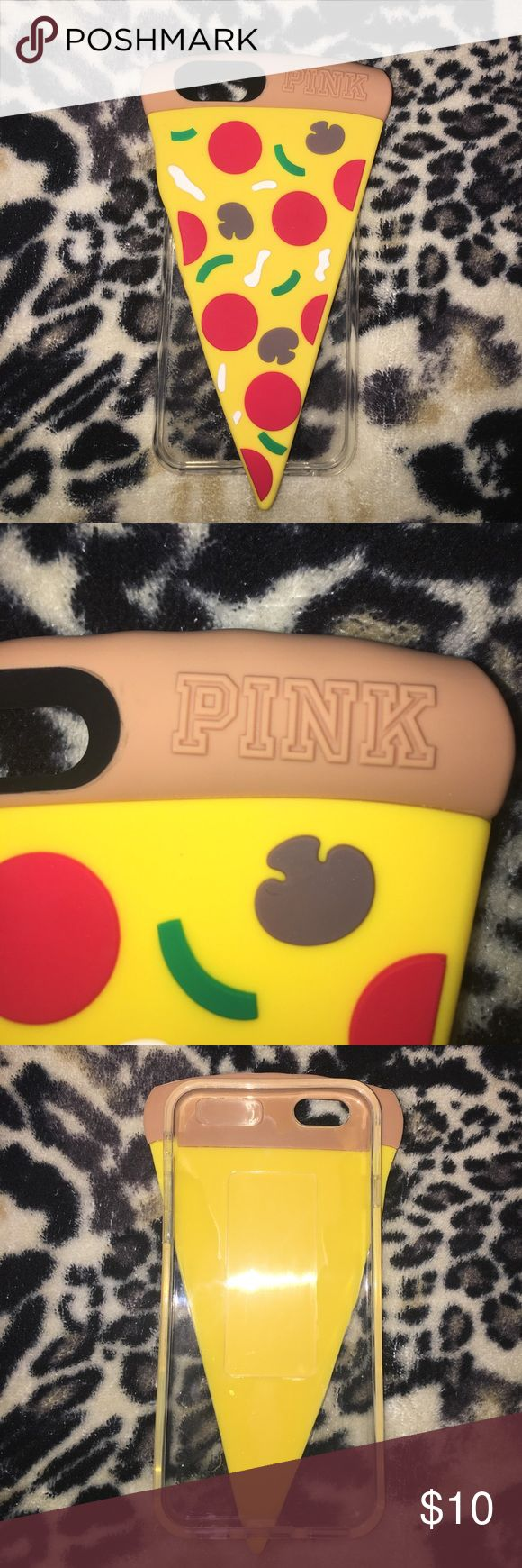 VS PINK iPhone case! NWT! Pizza slice phone case for iPhone 6/6S! New, never used with plastic wrap & sticker tag. Fun & cute! Durable & flexible plastic. PINK Victoria's Secret Accessories Phone Cases