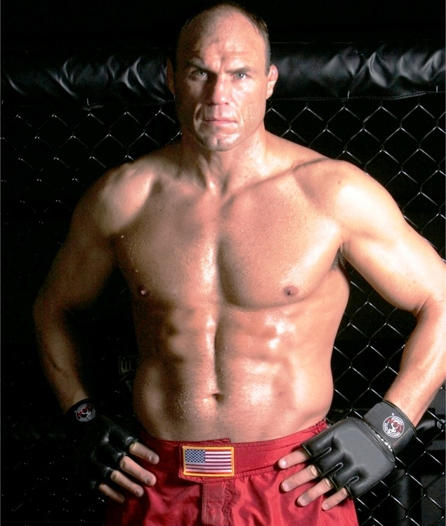 Randy Couture, former UFC Champion. One of the very best. Now an action movie star and runs his own clothing line dubbed Xtreme Couture
