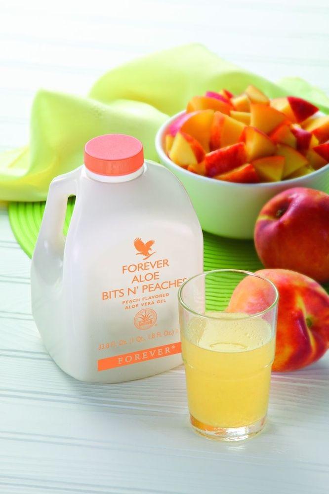 Forever Aloe Bits N Peaches - Gustoso Succo di Aloe Puro
