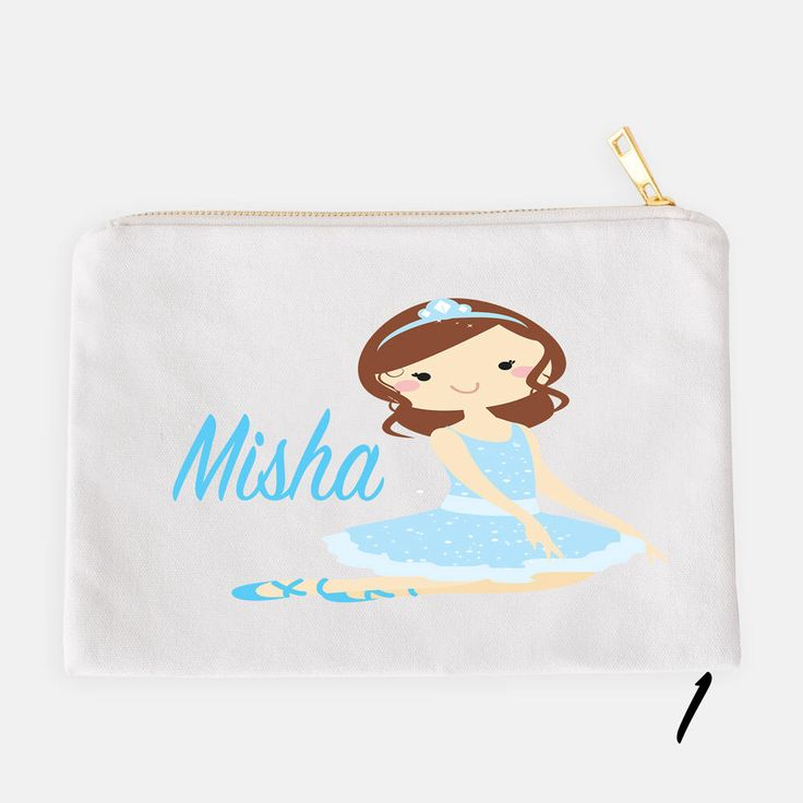 Ballerina Pencil Case, Personalized Pouch, Makeup Bag, Cosmetic Pouch, Custom Pencil Case, School Pouch, Kids Pencil Pouch, Ballerina Pouch by JolieJomelieDesigns on Etsy https://www.etsy.com/listing/524561810/ballerina-pencil-case-personalized-pouch