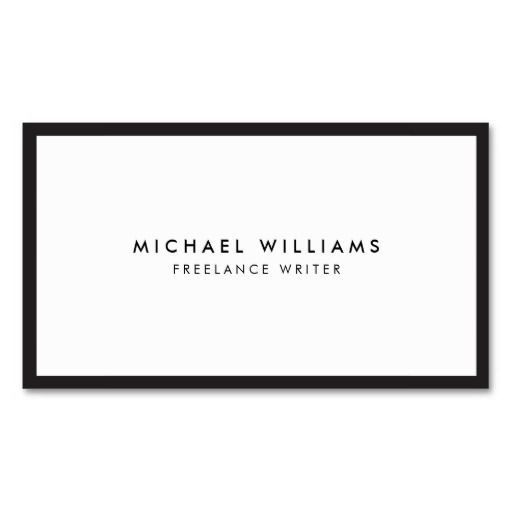 This classic business card template with black border gives a professional and refined first impression. © 1201AM CREATIVE