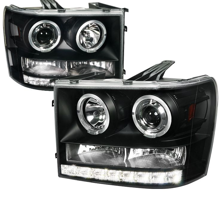 Gmc Sierra 20072012 Black Projector Headlights  GMC Sierra
