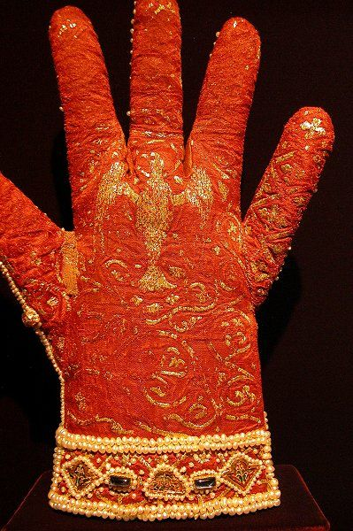 These gloves were made in the early 13th century for the coronation of Emperor Frederick II.