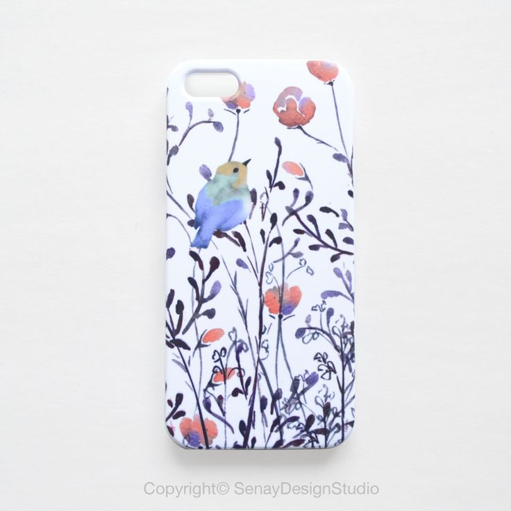 iPhone cover Watercolor Bright Finch unique iPhone case iPhone 6 case iphone 6 plus case watercolour Samsung Galaxy cover floral phone cover by SenayStudio on Etsy https://www.etsy.com/listing/201831955/iphone-cover-watercolor-bright-finch