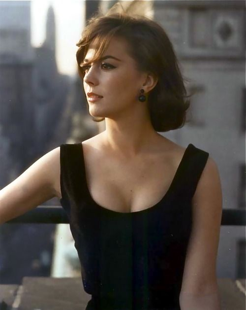 "Watching ""Sex and the Single Girl"" with Natalie Wood and Tony Curtis. Wow. She was so beautiful and timeless. Natalie Wood photographed in New York by William Claxton, 1961."