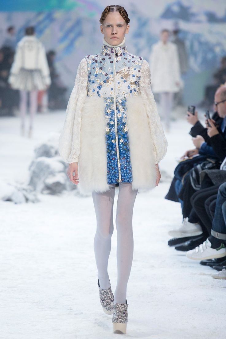 It was an Alpine dream at the show for Moncler Gamme Rouge that came at the end of Paris fashion week – a dream replete with a runway dusted in fake snow and massive video screens projecting impres...