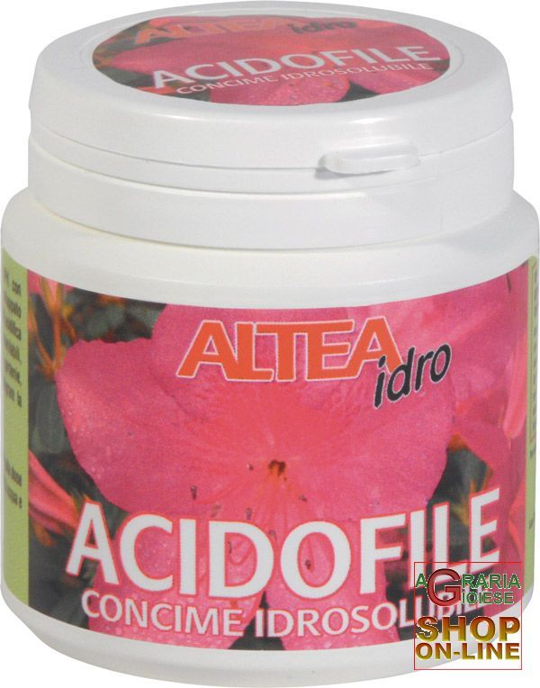 ALTEA IDRO ACIDOFILE CONCIME IDROSOLUBILE PER PIANTE ACIDOFILE GR. 100 https://www.chiaradecaria.it/it/microelementi/409-altea-idro-acidofile-concime-idrosolubile-per-piante-acidofile-gr-100-8033331133071.html