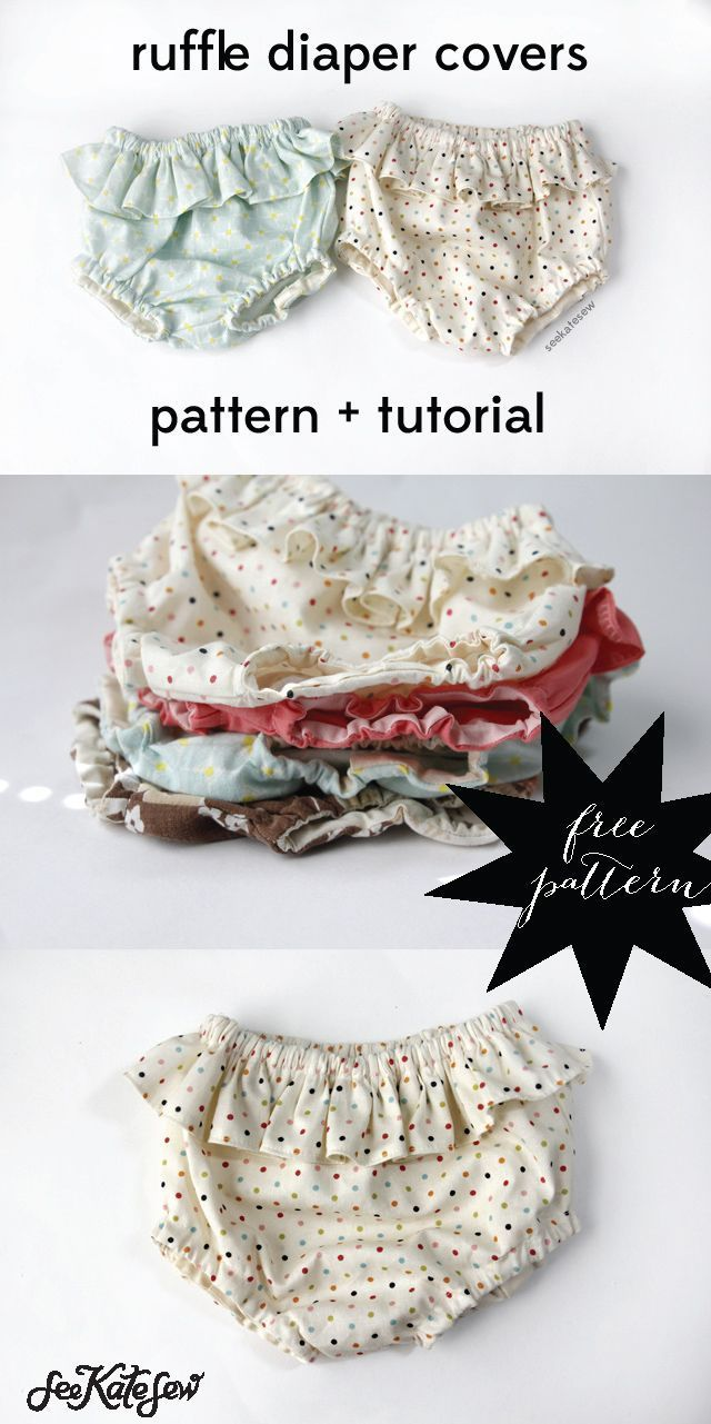 FREE PATTERN ruffle diaper covers - see kate sew