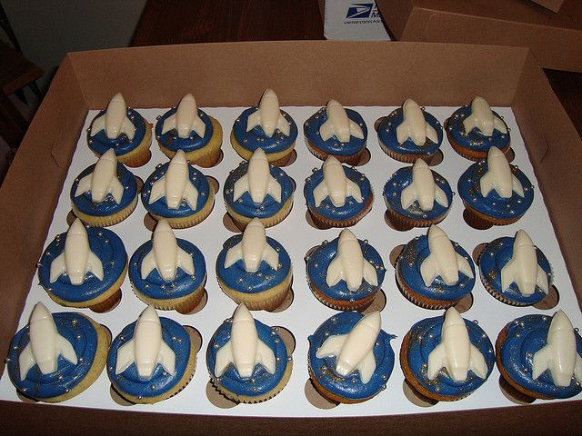 Outer Space Themed Cupcakes