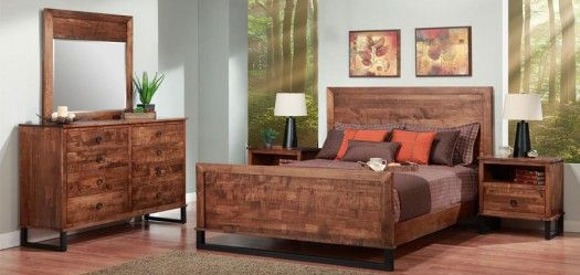 Cumberland Bedroom Suite. Solid Heritage Maple in your choice of colors. Shown here in Nutmeg stain.