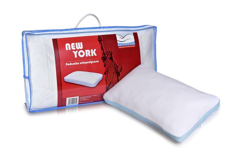 New York! Poduszka ortopedyczna z pianki z pamięcią w formie frytki. Idealna do spania we wszystkich 3 pozycjach!  New York! A memory foam pillow with memory in the form of fries. Perfect for sleeping in all 3 positions!