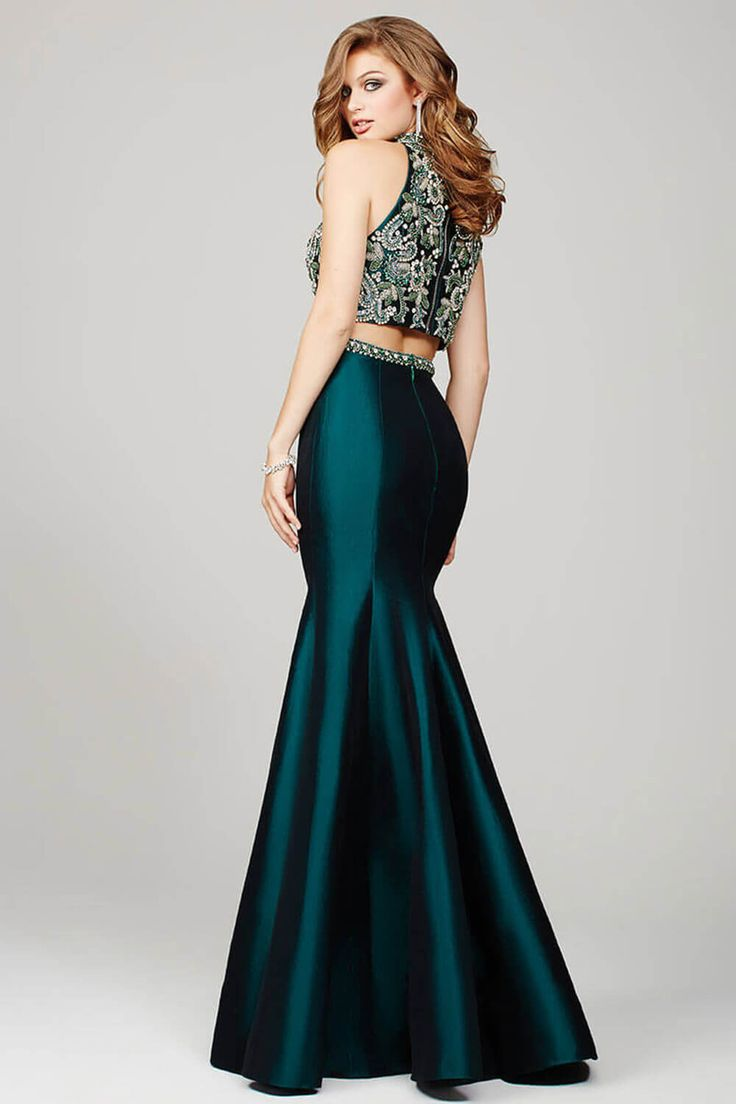 Green Two-Piece Mermaid Prom Dress 32562 - Prom Dresses