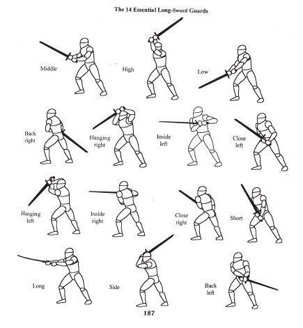 los movimientos mas comunes y efectivos para blandir una espada