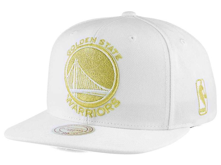 new style 6fd26 77371 ... closeout golden state warriors mitchell ness nba white goldie xl  snapback cap nba fashion pinterest golden