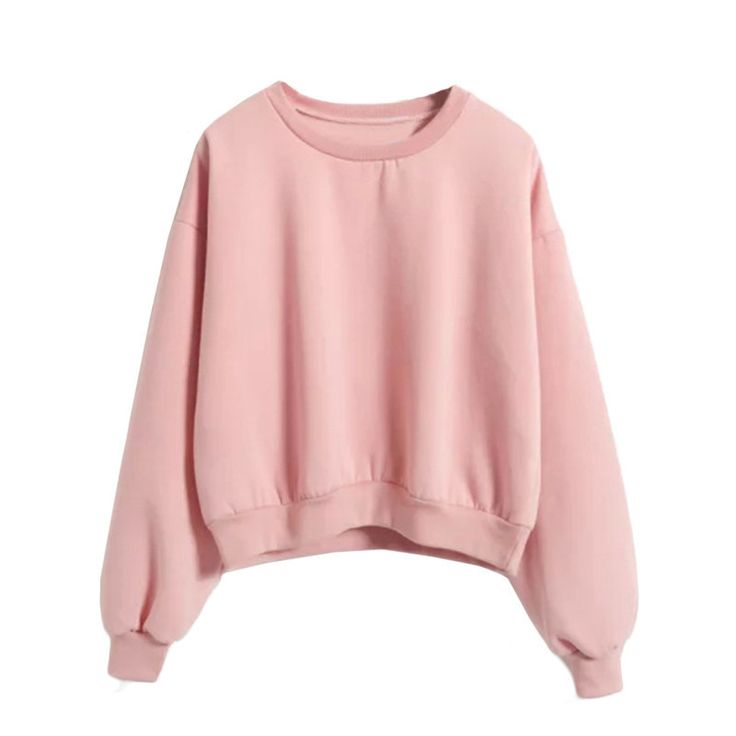 Ladies Sweatshirt, Pink Crop Top