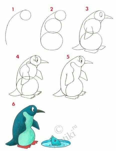 drawing lessons for kids a penguin how to draw painting and drawing for kids - Simple Drawing Pictures For Children