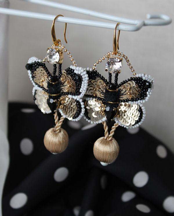 Аукцион на серьги-бабочки! - Ярмарка Мастеров - ручная работа, handmade