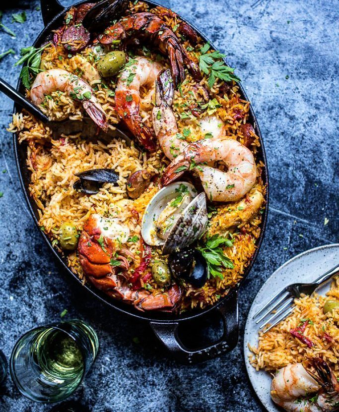 Ecuadorian Prawn Paella. Fresh. Exotic. Gorgeous.Just brilliant. Cheers! -David  Blog: http://ift.tt/1vCV6pv  #manvswild #seafood #pescatarian #paleo #crab #shrimp #prawn #corn #muscles #octopus #oysters #friday #weekend #lobster #instagood #foodstagram #foodgasm #foodporn #beer #bbq #grill #grilling #asado #beautifulcuisines #parrilla #chef #feedme #feedfeed #notallwhowanderarelost . . . @foodnetwork @todayfood @nytfood @huffposttaste @foodgawker @foodbeast @thefeedfeed @eater @foodnetwork…