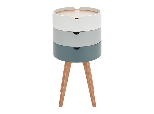 Cairn Bedside Table, Grey