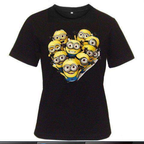 MINIONS Love Despicable Me 2 Gru Agnes Banana Gru's Minion Party Women Black T-Shirt Size S to 3XL