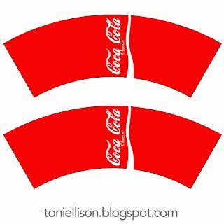 Patron de cannette de coca à imprimer. #coca #cannette