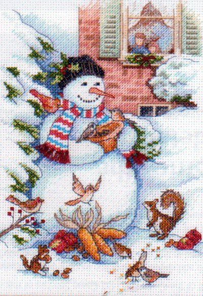 Dimensions Counted Cross Stitch Kit SNOWMAN & FRIENDS
