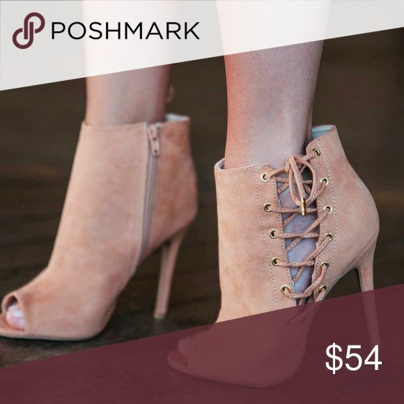 Make Me Blush Bootie This blush suede bootie will surely add just the right touch the the perfect spring outfit! The lace up peep toe bootie goes perfectly with a flowy spring dress or dress it up with a pair of skinnys, however you choose to wear it you will look and feel fabulous in them! Cleaning suggestion: use suede shoe cleaner found at any drug store. Qupid Shoes Ankle Boots & Booties