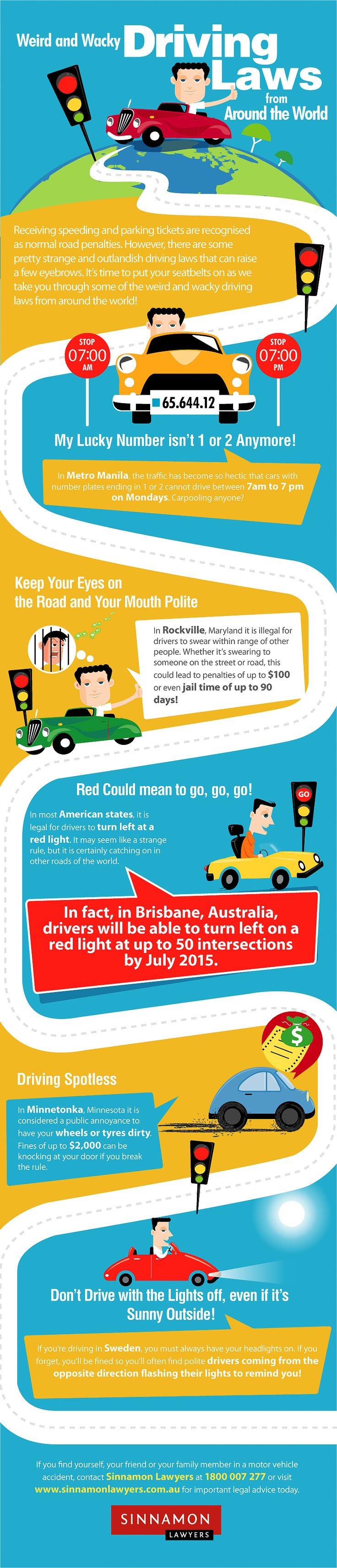 Infographic: Weird and Wacky Driving Rules from Around the World
