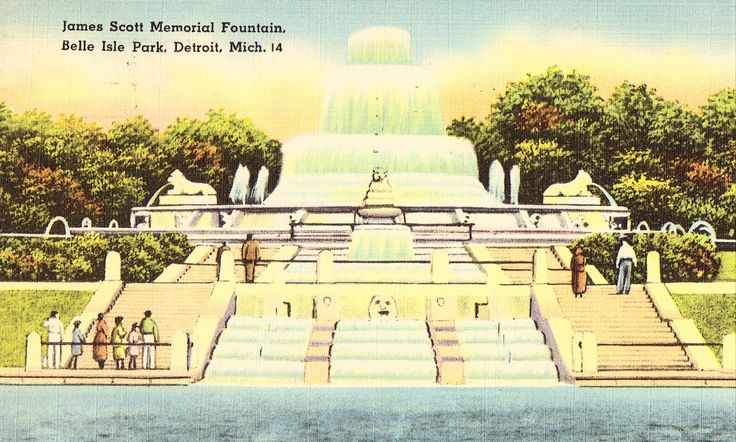 James Scott Memorial Fountain,Belle Isle Park - Detroit,Michigan